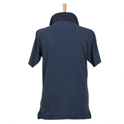 Coastal Blue - Antique Pique Polo- Washed Navy