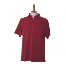 Coastal Blue - Antique Pique Polo - Claret