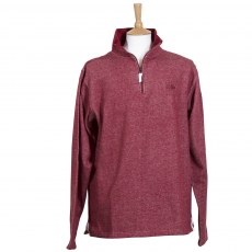 Coastal Blue - Mens Red Marl Sutton Sweatshirt