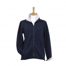Coastal Blue-Boardwalk Full Zip Sweatshirt - Navy/Pink