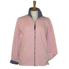 Coastal Blue-Boardwalk Full Zip Sweatshirt - Pink/Washed Navy
