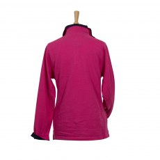 Coastal Blue - Bay Pique Sweatshirt - Raspberry