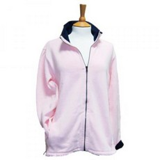 Coastal Blue - Boardwalk Full Zip Sweatshirt - Pink/Navy