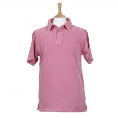 Coastal Blue - Antique Pique Polo - Coral