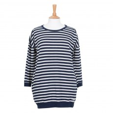 Coastal Blue - Horizon Sweatshirt - Navy/Ecru