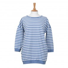 Coastal Blue - Horizon Sweatshirt - Blue Cerulean/White
