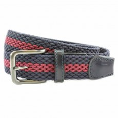 Stretch Belt - Two Tone - Navy/Burgundy