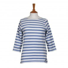 Coastal Blue - Castaway T-Shirt - White/Antique Indigo