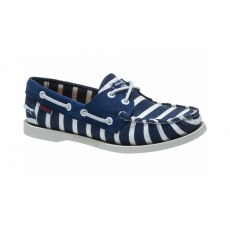 Sebago Ladies  -  Armolux Spinnaker - Navy/White