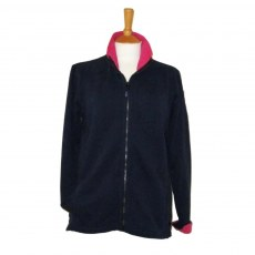 Coastal Blue - Boardwalk Full Zip Sweatshirt - Navy/Cerise