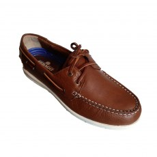 Sebago Mens - Naples Leather Boat Shoe - Brown Tan - (7000070-901)