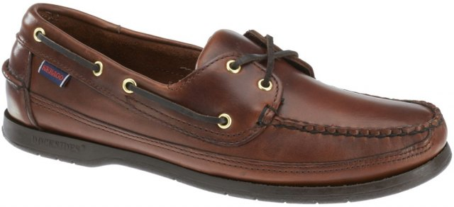 75943-Mens Sebago-Schooner-Brown Oiled Waxy-Side