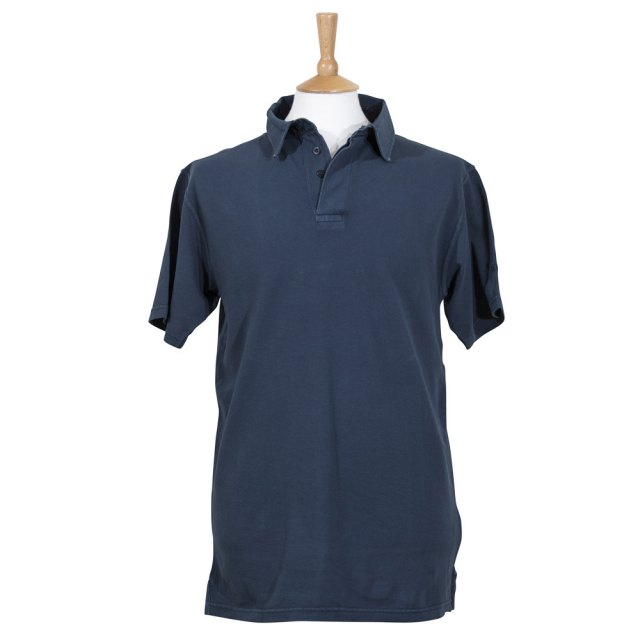 Coastal Blue Clothing Pique Polo - Washed Navy