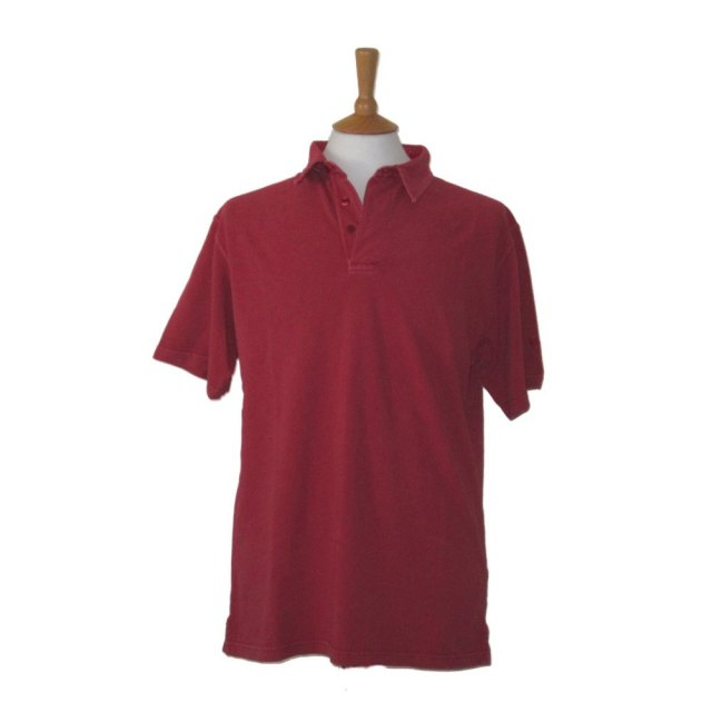 Coastal Blue-Mens Pique Polo - Deep Claret