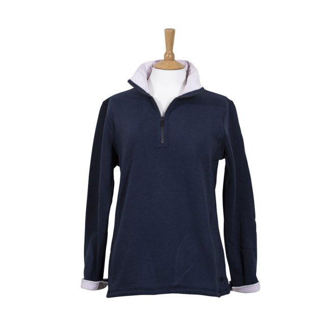 Coastal Blue - Ladies Seaspray Sweatshirt - Navy/Pink