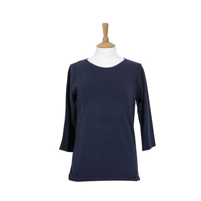 Coastal Blue Ladies Wave T-Shirt - Navy