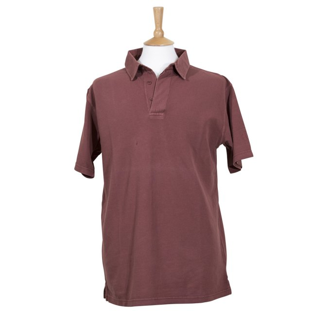 100% cotton antique pique polo - marsala