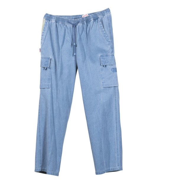 AS190-Cargo Trousers-Denim-Front