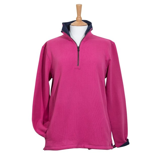 Coastal Blue Clothing Coastal Blue - Seaspray II Sweatshirt - Cerise/Navy