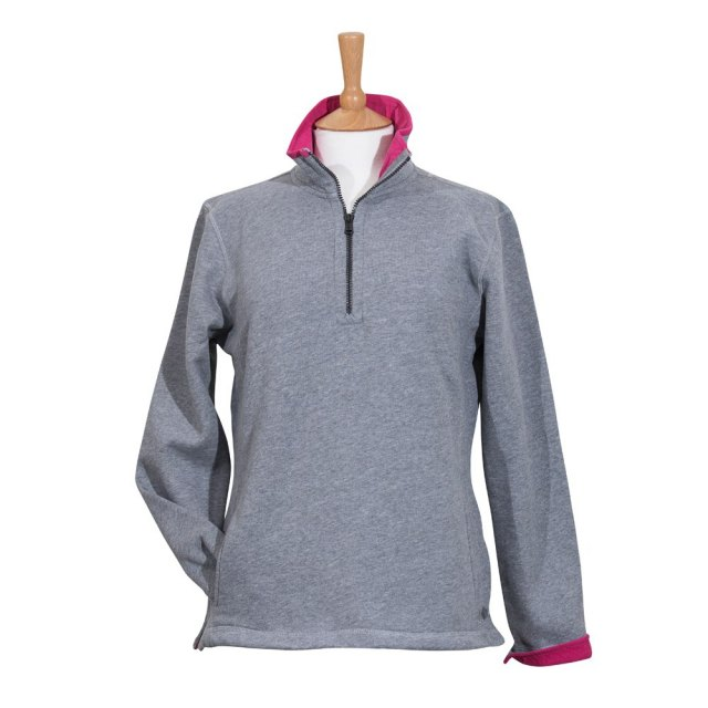 Coastal Blue Clothing Coastal Blue - Seaspray II Sweatshirt - Grey/Cerise