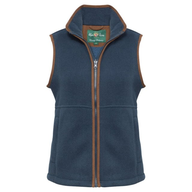 Alan Paine - Ladies Fleece Gilet - Blue Steel
