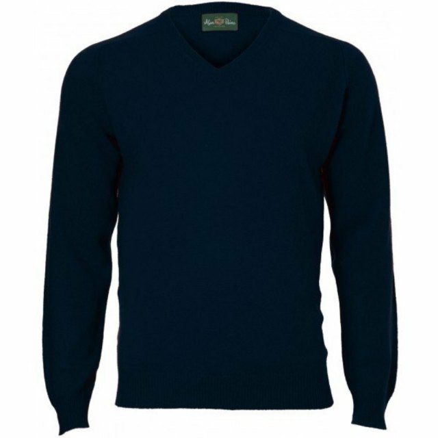 Alan Paine-Kilsyth-Lambswool Mens Sweater-Green