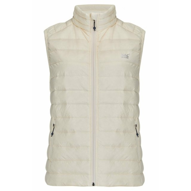 Ladies Mac In A Sac Alpine Gilet - Ivory